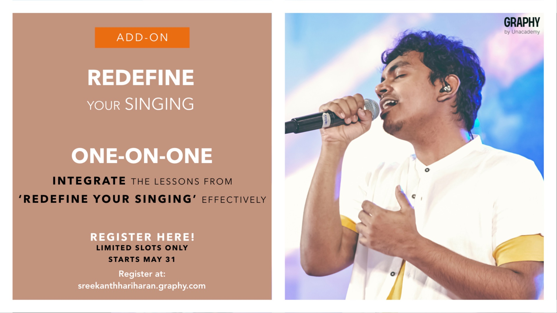 One-on-One Sessions - Redefine your Singing