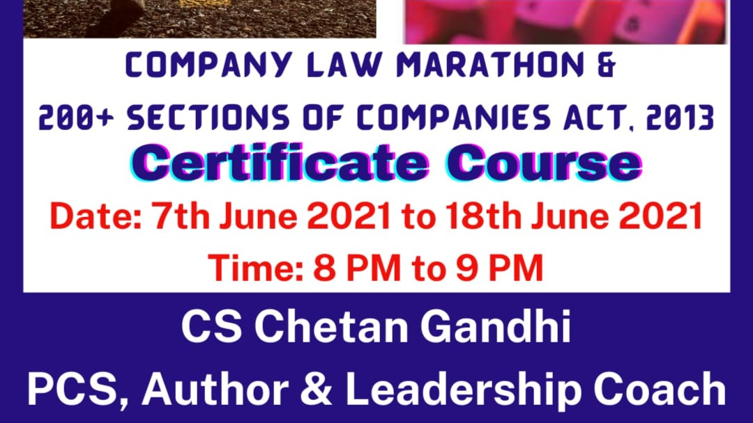 Co. Law Marathon & Remember 200+ Sections of Co. Act, 2013
