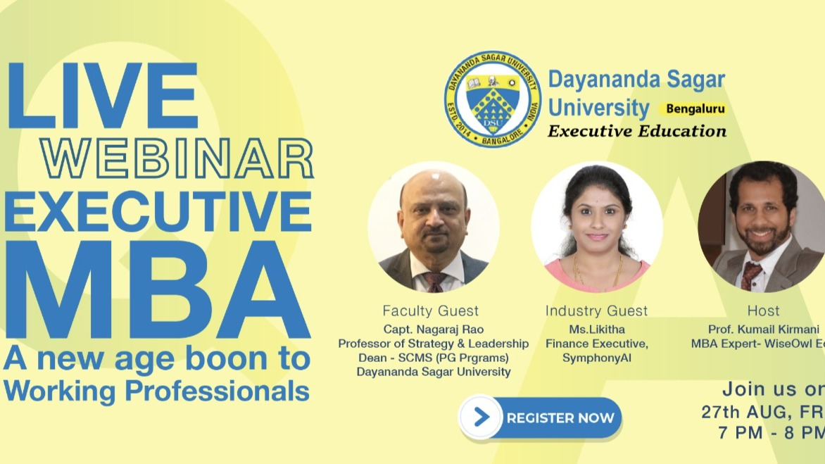 LIVE Q&A session - Executive MBA, A new age boon to working professionals