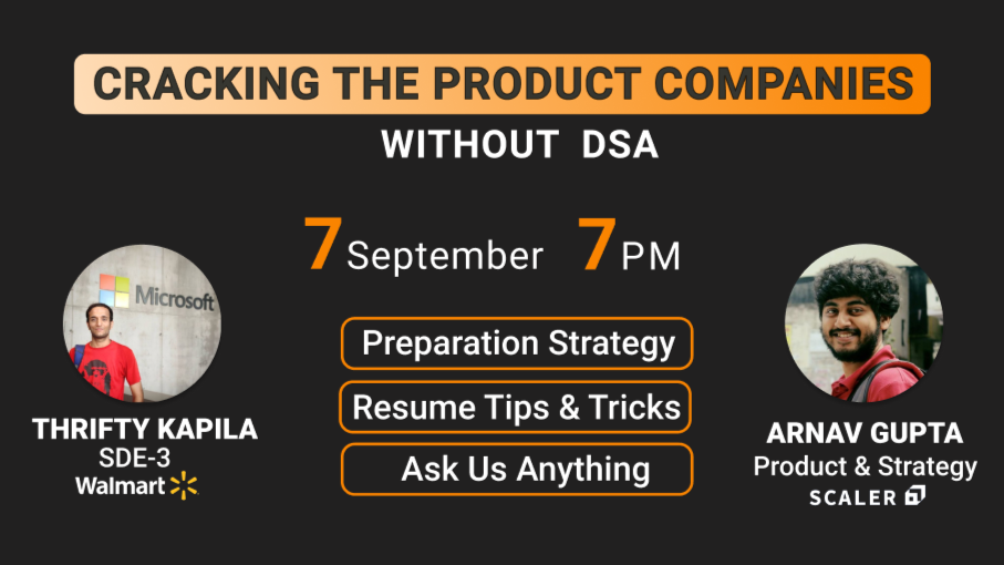 Cracking the Product Companies (Without DSA)