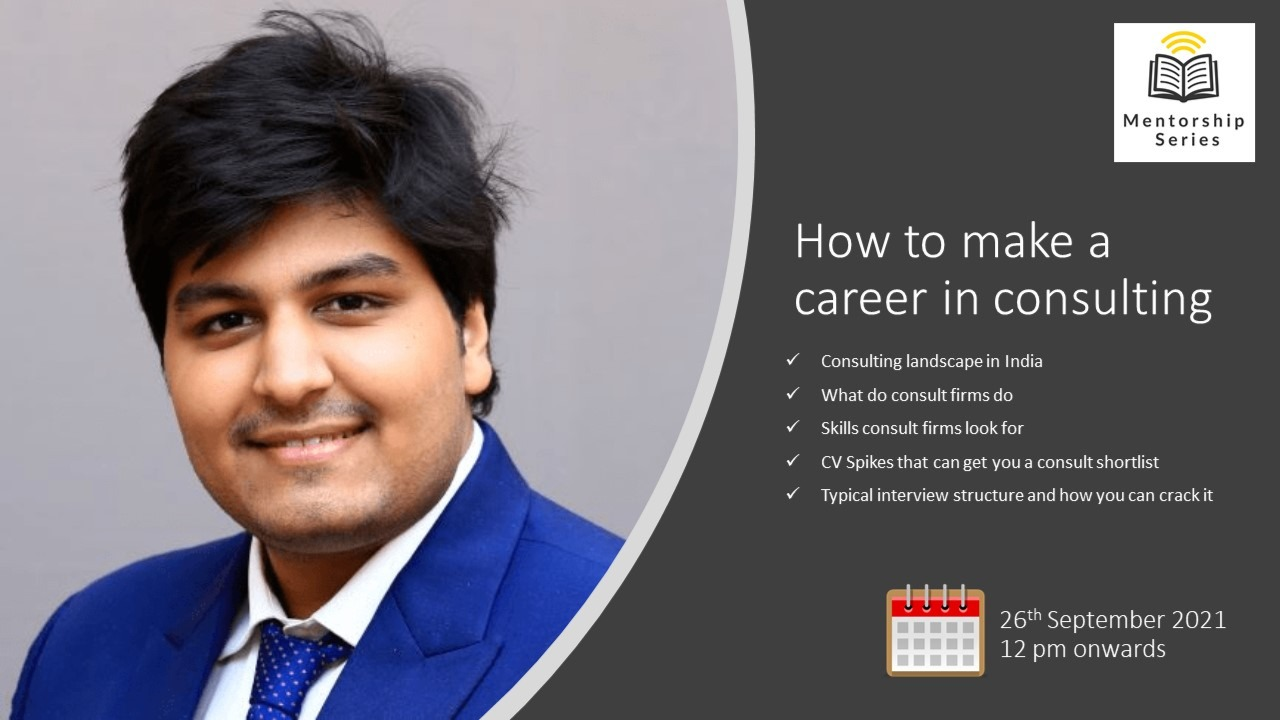 How to make a career in consulting