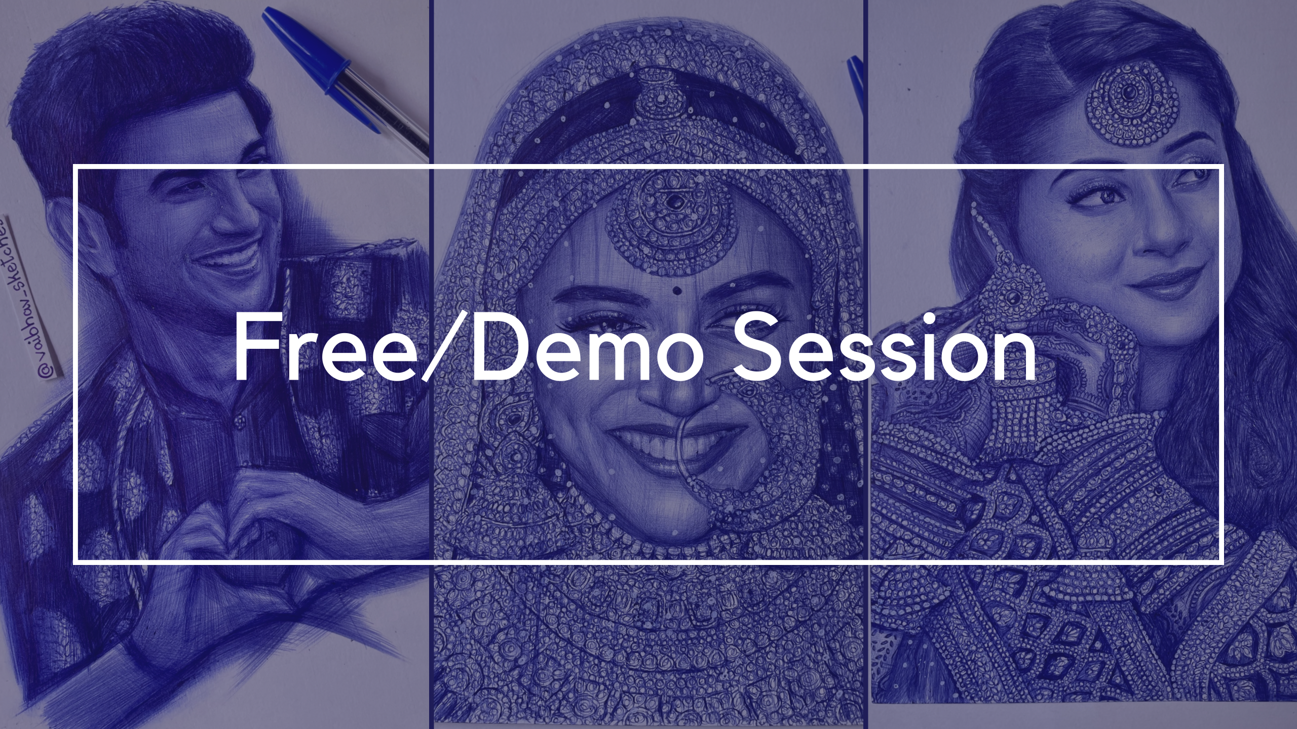 FREE SESSION ON BALL POINT PEN SKETCHING